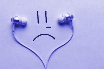 listen to sad music concept