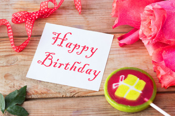 birthday concept with roses