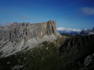 Dolomiten aus der Luft