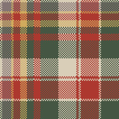 Pixel fabric texture classic plaid seamless pattern