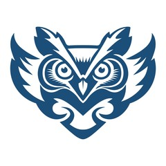 Wall Mural - Blue Owl fly vector