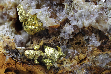 close up of dignified gold from Zlate Hory (Czech Republic)