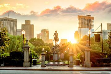 George Washington monument in Public Garden Boston