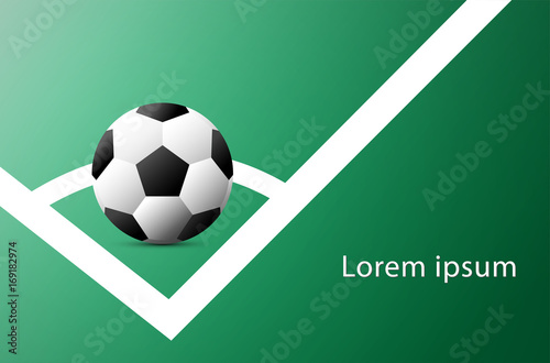 soccer cup advertising sport event announcement place your text