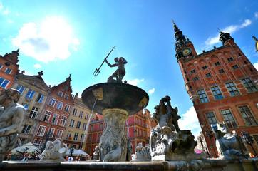 Neptune's Fountain, Gdańsk, Poland