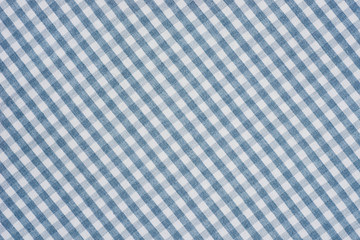 blue and white checkered fabric background texture