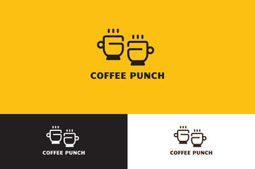 Coffee with Punch Logo Illustration