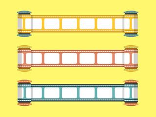 flat film strip vector design
