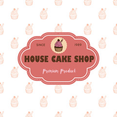 cup cake logo and pattern