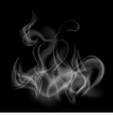 smoke template background isolated and transparent, vector illustration