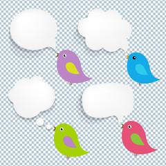 Speech Bubble And Birds