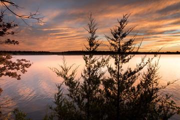 Vibrant Sunset at Lake // Fellows Lake, Springfield, MO