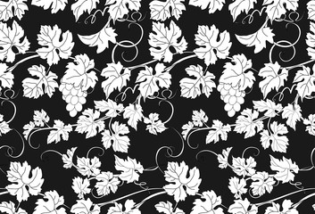 Vector repeating pattern with vines in vintage style. Fototapete