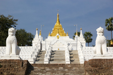 The stairway to Mingun Pahtodawgy Myanmar
