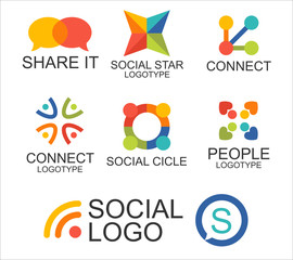 Logotipos y símbolos sociales