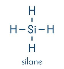 Silane (SiH4) molecule. Skeletal formula.