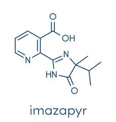 Imazapyr herbicide molecule. Skeletal formula.