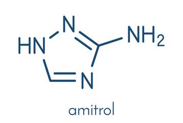 Amitrol (3-Amino-1,2,4-triazole, 3-AT) herbicide molecule. Skeletal formula.