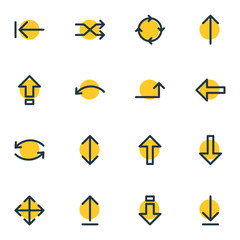 Vector Illustration Of 16 Sign Icons. Editable Pack Of Raise, Tab, Undo And Other Elements.