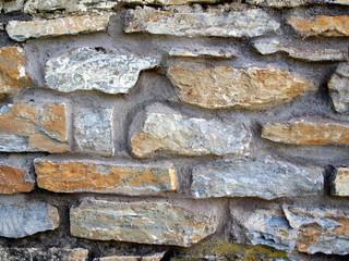 Mauerwerk Naturstein Grau Bunt