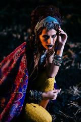 stylish boho woman