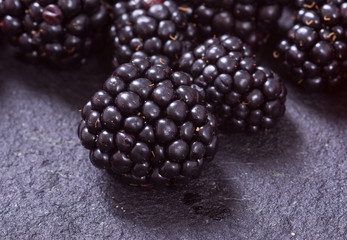 Macro shot of blackberry
