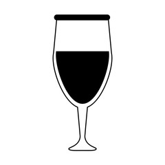 glass of wine icon image vector illustration design  black and black and