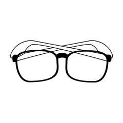 glasses frame icon image vector illustration design  black and black and