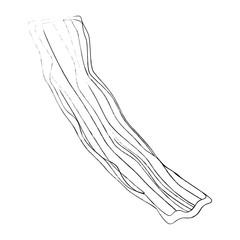 bacon stripe icon over white background vector illustration