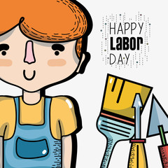 man celebrating hoday of labor day