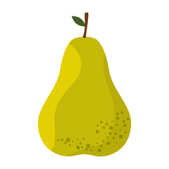 Pear delicious fruit icon vector illustration graphic design