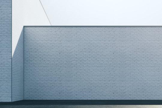 Empty brick exterior wall
