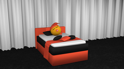 putziges Emoticon mit Schlafmütze und Schnuller