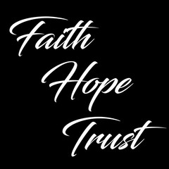 Inspirational Quote:  Faith, Hope and Trust