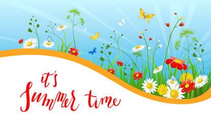 Floral summer banner