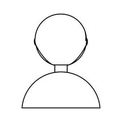 Man back cartoon icon vector illustration graphic design