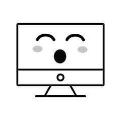 line kawaii cute funny computer technology