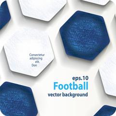 football (soccer) vector background, cover. Eps10.