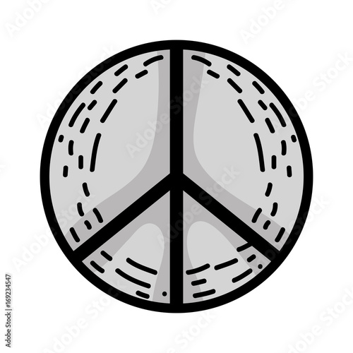 Line Hippie Peace And Love Symbol Design Stock Image And Royalty