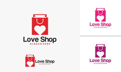 Love Shop logo template vector illustration