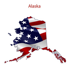 Alaska full of American flag