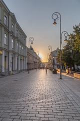 Kielce, centrum ulica Sienkiewicza