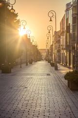 Ulica Sienkiewicza, Kielce przy zachodzie słońca