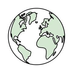 Earth planet symbol icon vector illustration graphic design