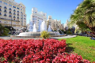 Town hall square Valencia.