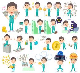 surgical operation green wear men_money
