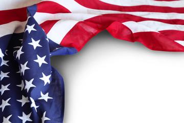 USA flag on plain background
