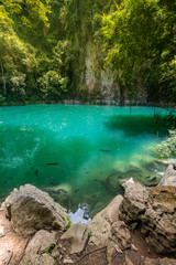The emerald pool, Northern Thailand