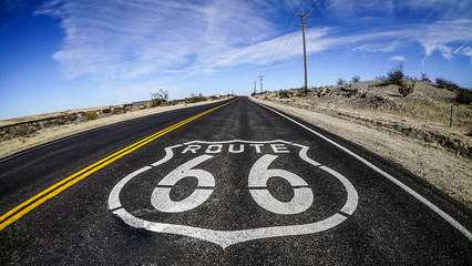 Foto op Canvas Route 66 Route 66 Stock Image