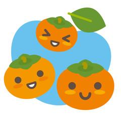 柿の親子(空色)